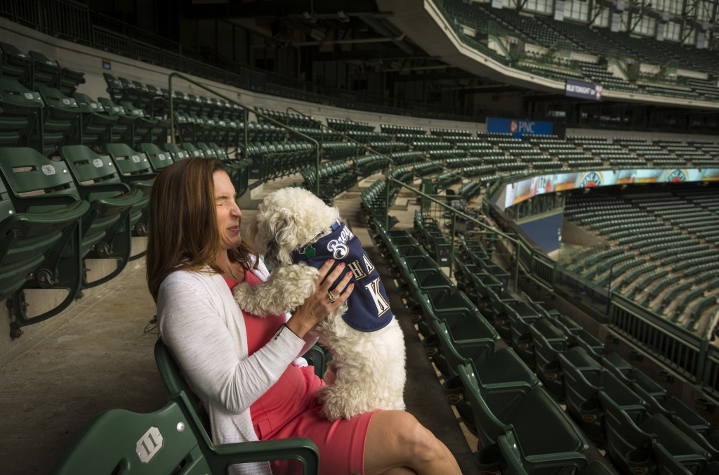 Marti Wronski with Hank the dog