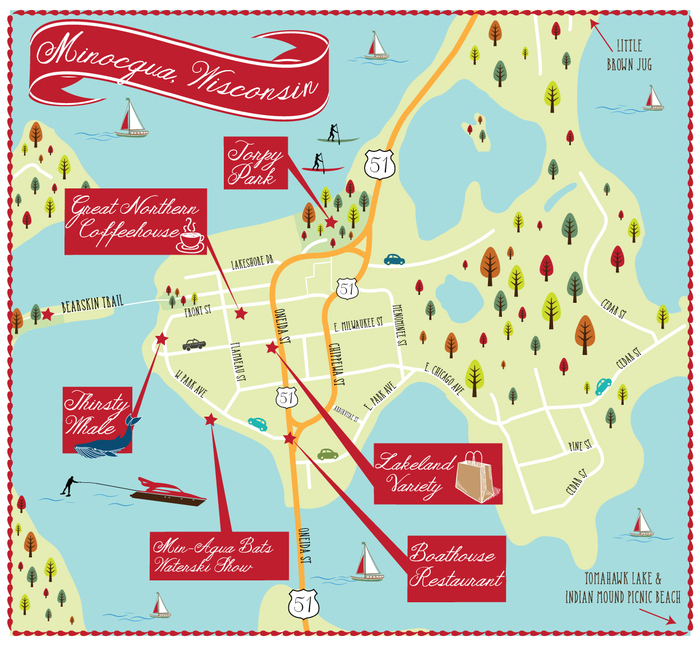 Minocqua Map