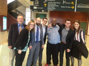 Daryl Dwayne Holloway with Wisconsin Innocence Project students and staff