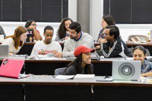 pre law scholars in class