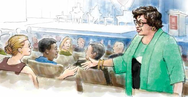 sketch of Justice Sonia Sotomayor by Barry Roal Carlsen