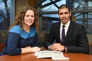 Amanda Postel and Jared Prado organize the street law program