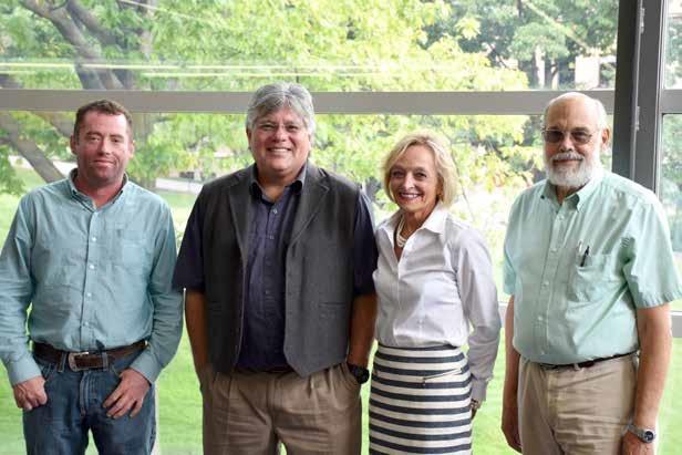 Dan Cornlius, Richard Monette, Anne Smith, and Peter Carstensen