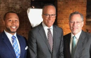 Jarrett Adams, Lester Holt, and Keith Findley
