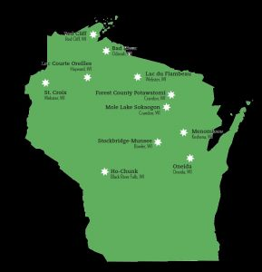 map of WI Native tribes