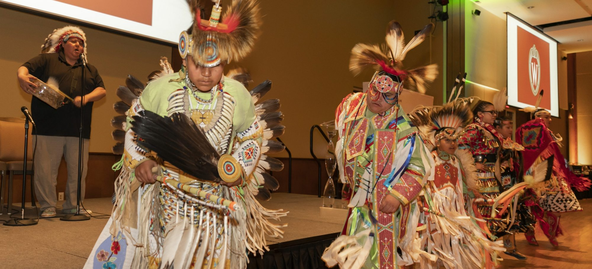 native american dancers at LEO 50th anniversary Banquet