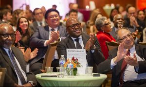 audience applauding at 50th anniversary LEO Banquet