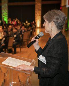 Dean Margaret Raymond speaking at the 50th Anniversary LEO Banquet