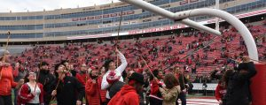 2018 Cane Toss at Camp Randall