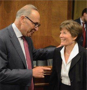 US Senator Charles Schumer and Brenda Sannes