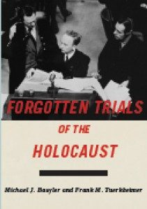 "Picture of book called ""Forgotten Trials of the Holocaust"""