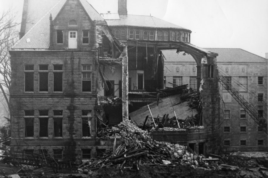 Demotion of the original Law School building
