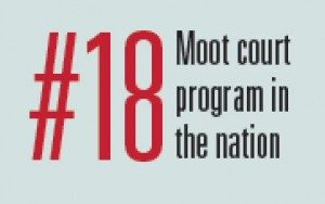 Moot court is 18th program in the nation