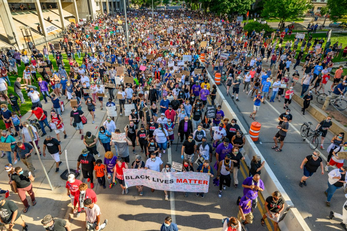 BLM Solidarity March on University Ave