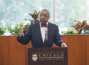 Randolph Stone giving a talk