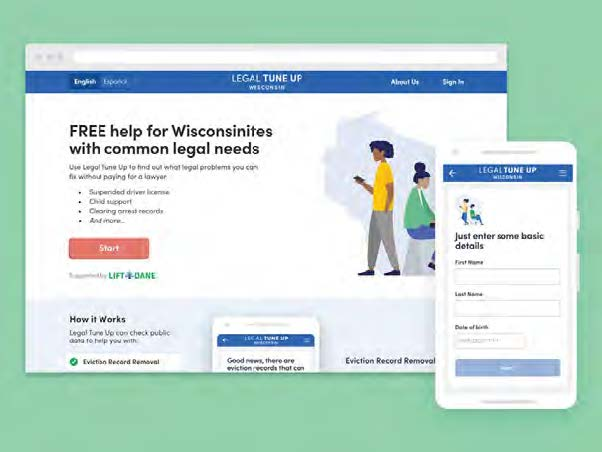 screenshot of LIFT Dane's web app