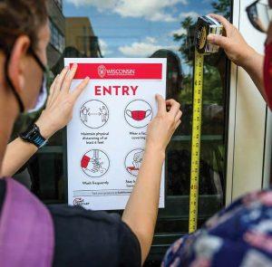 posting building restriction flyers